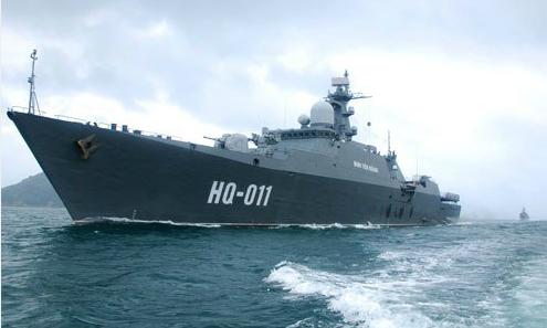 Vietnam sends first-ever Russian-built warship to international exhibition