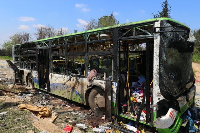 Death Toll From Aleppo Bus Convoy Bomb Attack at Least 126: Observatory