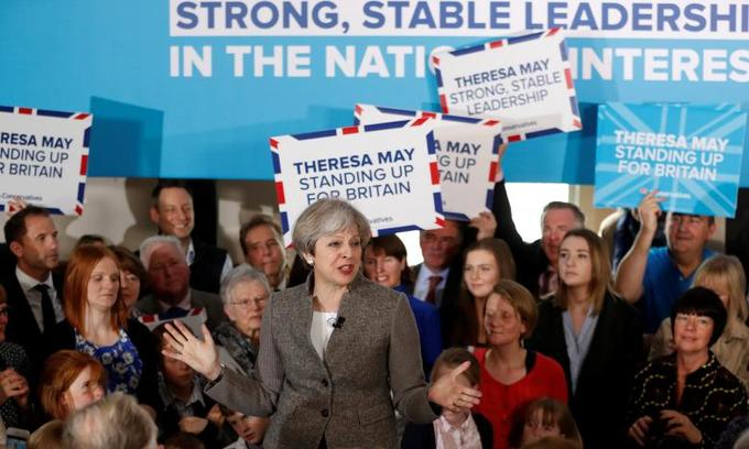 Labour gains in British polls, but May's party keeps strong lead