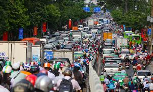 Saigon standard: If you're still moving, that's not a traffic jam