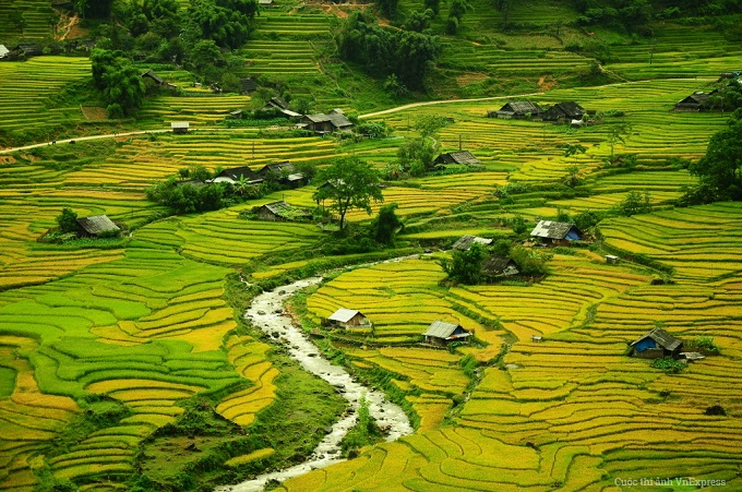 Sapas rice paddies. Photo by VnExpress Photo Contest/Huynh Ngoc Dung