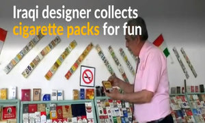 Iraqi collector amasses over 2,800 cigarette packets