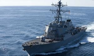 John McCain visits 'Big Bad John' US destroyer in Vietnam