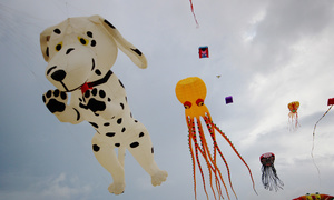 Colorful kites and music rock the sky in Hoi An
