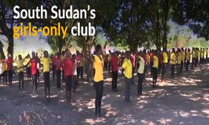 Through exercise, girls in South Sudan learn about peace and self-worth