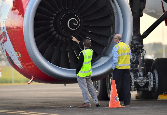 AirAsia flight grounded after apparent bird strike damages engine