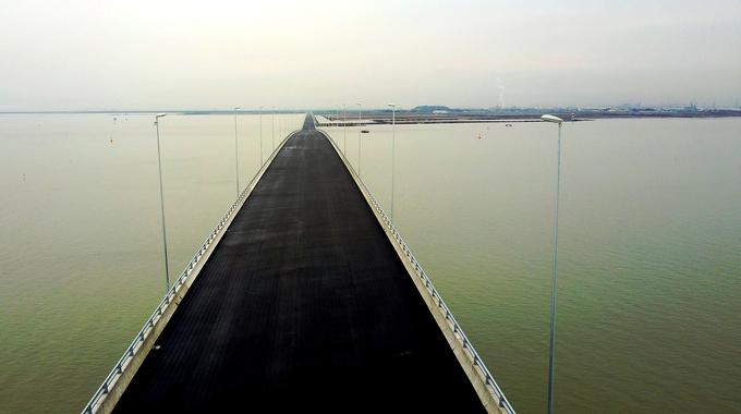 Southeast Asia's longest sea crossing slowly sinking in Vietnam