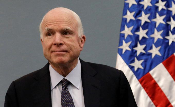 US Senator McCain diagnosed with brain tumor: McCain's office