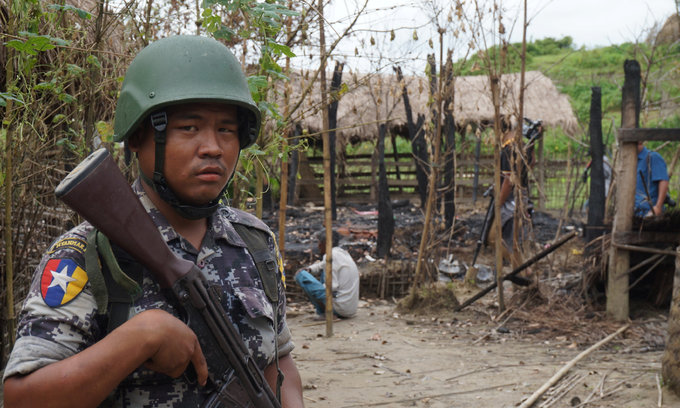 Hundreds of Buddhists protest against aid agencies in Myanmar's Rakhine