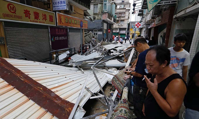Deadly storm tells tale of two cities in Macau