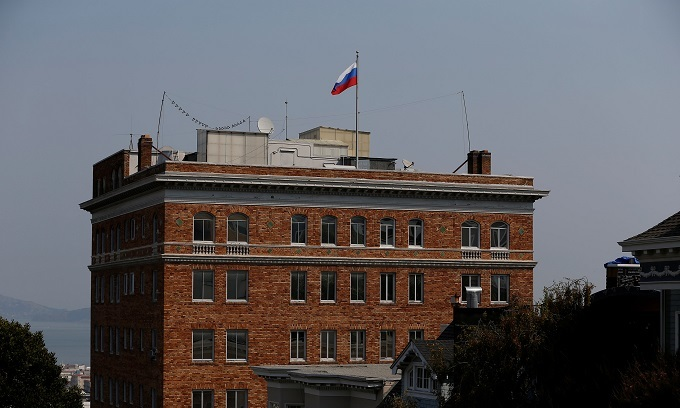 US agents close Russian trade mission, Moscow protests