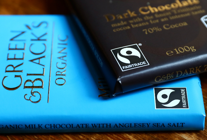 Green and Blacks chocolate bars are seen in a photo illustration in London, Britain August 24, 2017. Picture taken August 24, 2017. Photo by Reuters/Neil Hall