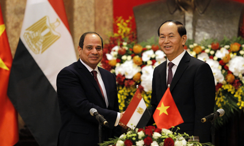 Egyptian president pays historic visit to Vietnam, boosts economic cooperation