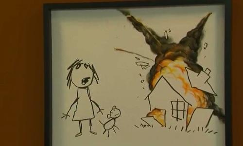 Banksy donates new artwork to anti-war art fair