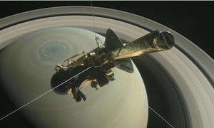 Cassini spacecraft ends 13-year odyssey with fiery plunge into Saturn