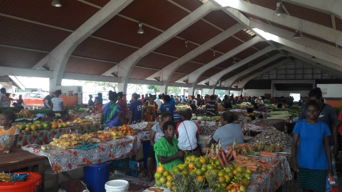 The main market in Port Vila, capital of Vanuatu. Photo by Joe Buckley