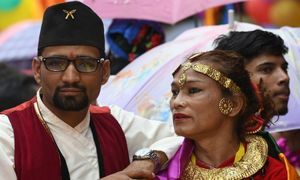 Couple in Nepal's 'first transgender marriage' finds acceptance