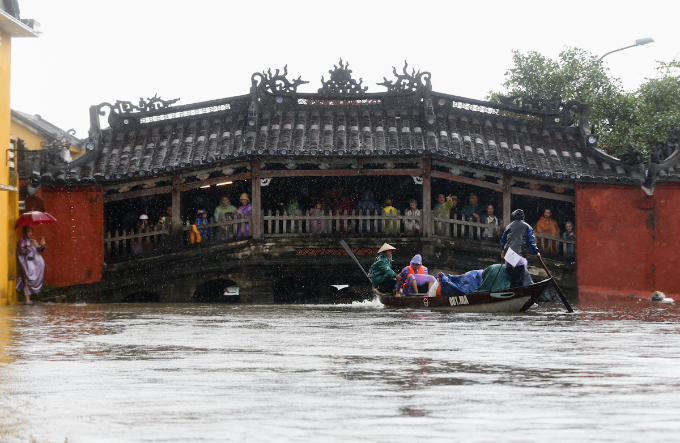 Hoi Ans symbol, the Cau Pagoda under the water