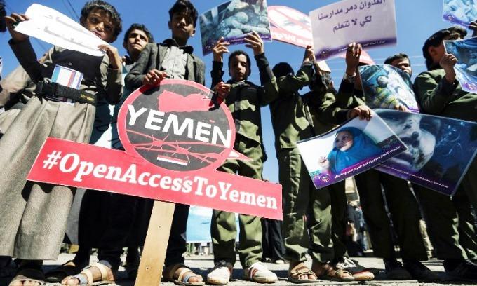 First aid flight in weeks lands in rebel-held Yemen capital