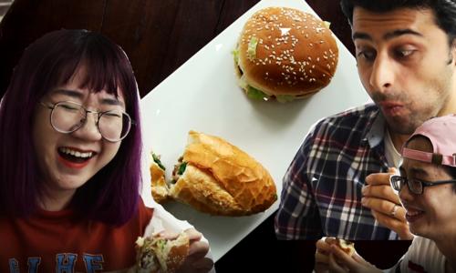 Vietnam's street food vs foreign fast food - Round 1: Banh mi vs hamburger
