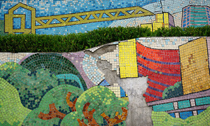 World's largest ceramic mosaic under maintenance in Hanoi, again