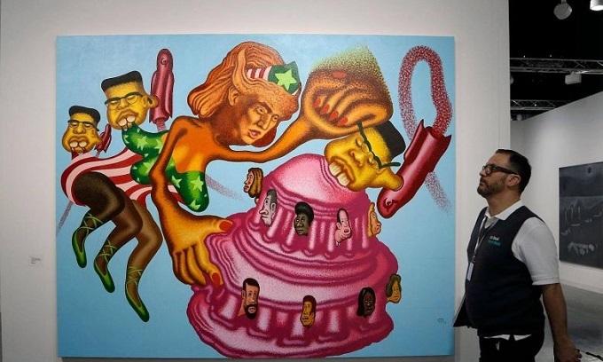 Trump beats Kim, sort of, at Art Basel in Miami Beach