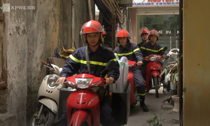 Hanoi turns to two-wheel option to extinguish fires in the city