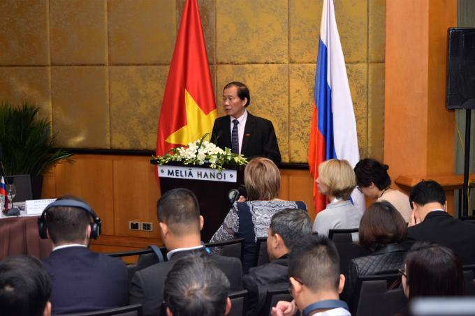 Hoang Quang Phong, vice chairman of the VCCI spoke at the