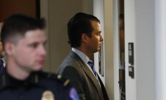 Trump's eldest son testifies to Senate committee in Russia probe