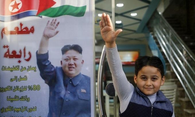Gaza restaurant offers N.Koreans discount in gesture to Kim