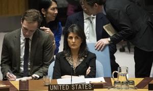 US vetoes UN resolution rejecting Trump's Jerusalem decision