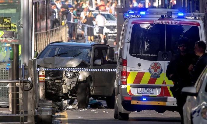 Car ploughs into pedestrians in Australia's Melbourne, up to 14 hurt