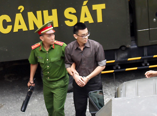 Dang Hoang Thien was determined to be the leader behind a plot to set fire to Tan Son Nhat Airport. Photo by VnExpress/Hai Duyen.