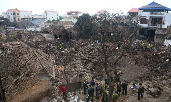 Explosion kills 2 kids, destroys 7 houses in northern Vietnam