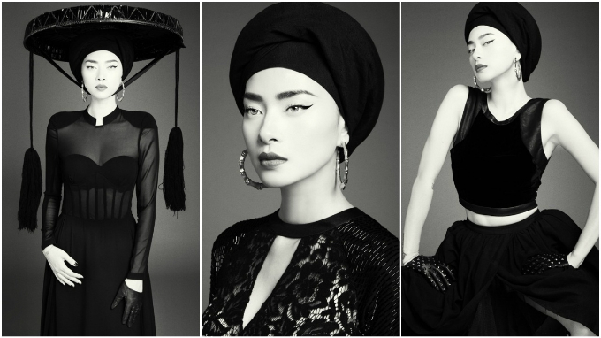 Ngo Thanh Van modelled in Tonkin, a collection by Vietnamese designer Kelly Bui.Photo by Milor Tran via VnExpress.