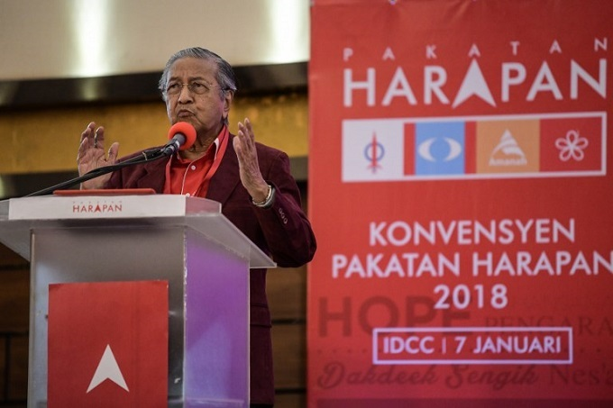 Malaysia's Mahathir named opposition PM candidate