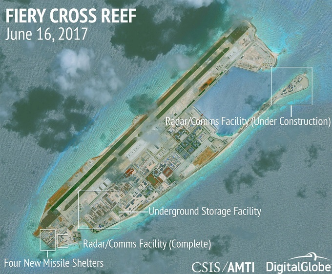 Philippines to protest to China over apparent airbase on manmade island in the East Sea