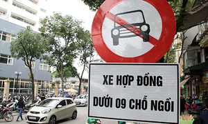 Hanoi bans Uber, Grab cars from 'no taxi' roads