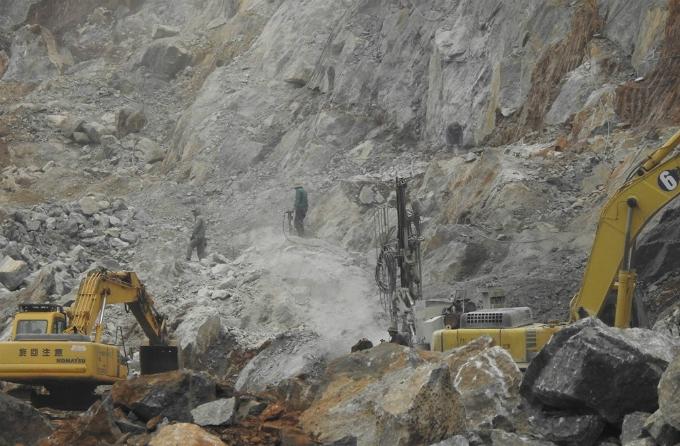 Construction teams said the mountainous terrain made their work more difficult.