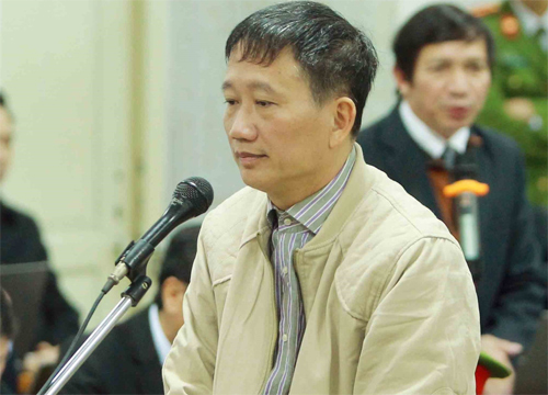 Trinh Xuan Thanh, former board chairman of PetroVietnam Construction Corporation, at a corruption trial in Hanoi. Photo by Vietnam News Agency