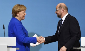 Germany's Merkel makes breakthrough in bid to form coalition