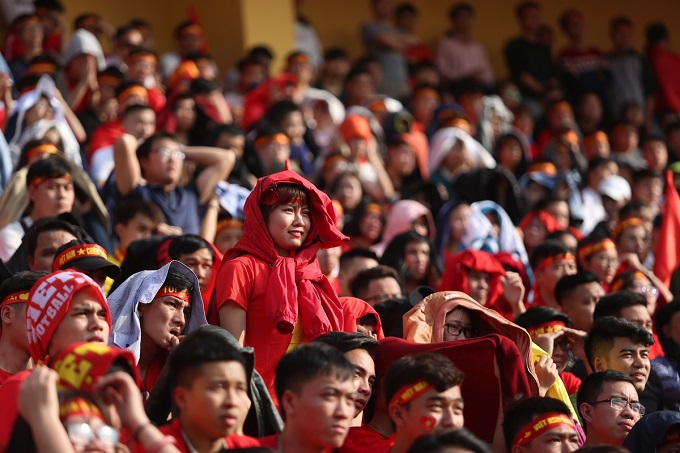 The match appears to bevery important for Vietnamese. Many took half a day off just to watch the game.