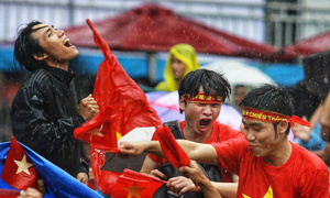 Fans across Vietnam storm streets to celebrate victory over Qatar in U23 Asian Cup