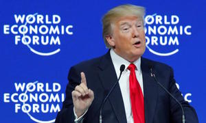Trump warns Davos on unfair trade, says U.S. 'open for business'
