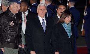 Pence heads to Olympics leaving open chance of talks with N Korea officials