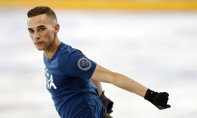Gay skater Rippon open to meeting Pence, after Olympics Games