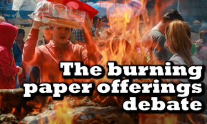 Should Vietnam abandon custom of burning paper offerings?