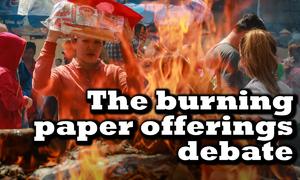 Should Vietnam abandon custom of burning paper offerings?