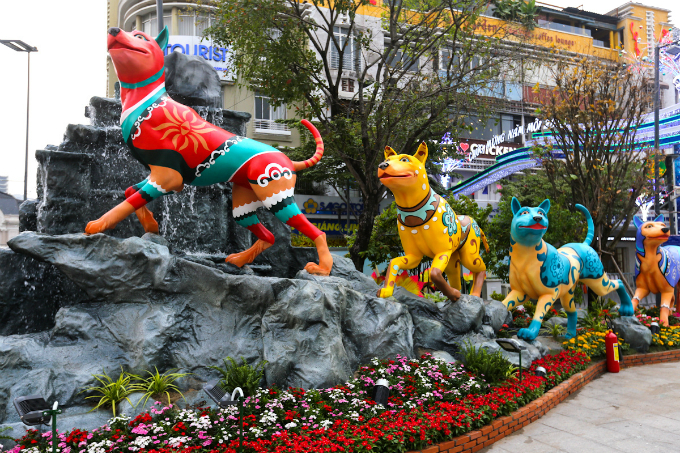 Statues of dogs inspired by the Phu Quoc Ridgeback, a rare breed native to the namesake southern island, are a highlight of this years.
