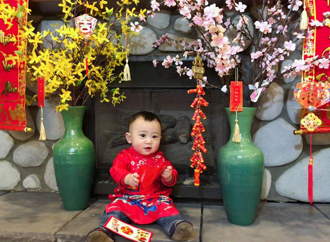 As the couple has just welcomed their first son, Dong Quan last year, they are excited to teach him about the home countrys New Year by decorating the house with peach and apricot flowers, and preparing traditional Tet food, including pickled onions, caramelized pork and of course the special rice cakes.